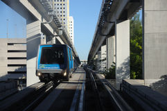 Miami downtown train Stock Photo
