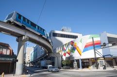 Miami downtown train Stock Photo