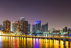 Miami at dusk Royalty Free Stock Images