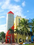 Miami, Estados Unidos da América - 5 de janeiro de 2014: O bulevar da compra de Lincoln Road em Miami Beach fotos de stock
