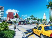 MIAMI - 25 FÉVRIER 2016 : Belles couleurs de rue en hiver MI Images stock