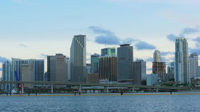 Miami famous downtown sunset time sky panorama 4k usa. Usa miami famous downtown sunset time sky panorama 4k stock video