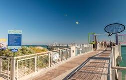MIAMI - 25. FEBRUAR 2016: Süd-Pointe-Park-Pier auf einem schönen Stockfoto