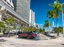 MIAMI - 25. FEBRUAR 2016: Schöne Straßenfarben im Winter MI Lizenzfreies Stockbild