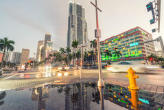 MIAMI - FEBRUARY 25, 2016: City skyline and buildings. Miami wel Royalty Free Stock Images