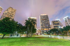 MIAMI - FEBRUARY 25, 2016: City skyline and buildings. Miami wel Royalty Free Stock Image