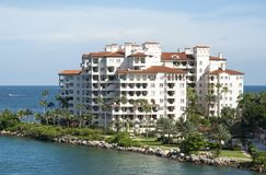 Miami Fisher Island. Fisher Island residential district that has the highest average income in the United States Florida royalty free stock image