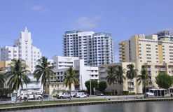Miami FL,August 09th: Downtown Miami Skyline in Florida USA Stock Images