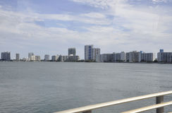 Miami FL,August 09th: Skyscrapers panorama of Miami in Florida USA Royalty Free Stock Images