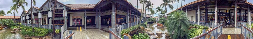 MIAMI, FL - FEBRUARY 2016: Panoramic view of The Falls mall. Thi. S is one of the biggest mall in Florida Royalty Free Stock Photography