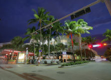 MIAMI, FL - JAN 31: Lincoln Road, pedestrian road running east-w. Est between 16th Street and 17th Street on Jan 31, 2013 in Miami Beach, Florida, USA. Once open Royalty Free Stock Photos