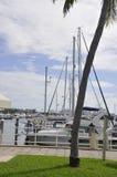 Miami FL, Sierpień 09th: Jachtu port od Miami w Floryda usa Obraz Stock