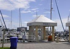 Miami FL, Sierpień 09th: Jachtu port od Miami w Floryda usa Fotografia Stock