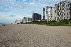 Miami, FL, United States - June 18, 2017: View of Miami Beach. View of empty Miami Beach Royalty Free Stock Photography