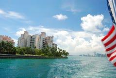 Miami with Flag Stock Photos