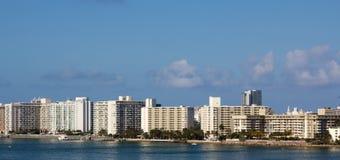 Miami flerfamiljshus Arkivfoto