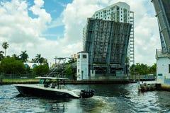Miami flodCityscape Royaltyfri Foto