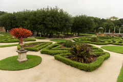 MIAMI, FLORIDA - APRIL 29, 2015: Vizcaya Museum  Garden. Green Garden with Paths and Tourist People. Royalty Free Stock Image