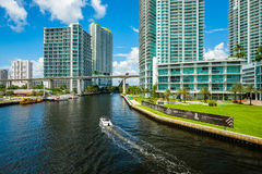 Downtown Miami Cityscape Stock Images