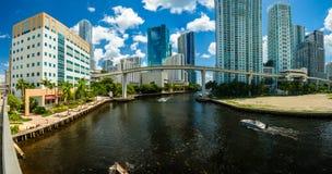 Downtown Miami Panorama Stock Image