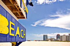 Miami Florida beach rescue Royalty Free Stock Image