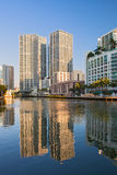 Miami Florida, Brickell and downtown financial buildings Stock Images