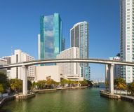 City of Miami Florida downtown buildings stock image