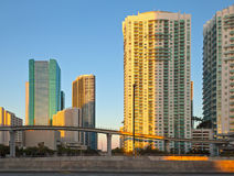 City of Miami Florida downtown buildings Royalty Free Stock Images