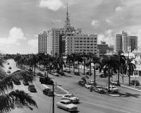 Miami Florida, circa 1951 (alla visade personer inte är längre uppehälle, och inget gods finns Leverantörgarantier att det ska gö Arkivbilder
