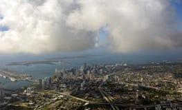 Miami, Florida dall'aria Fotografia Stock Libera da Diritti
