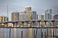 Miami Florida downtown sunset Royalty Free Stock Images