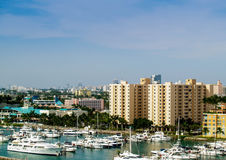 Miami, Florida harbor and skyline Royalty Free Stock Images