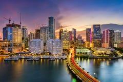 Miami Florida, horisont Royaltyfria Foton