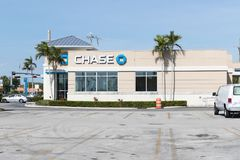 Chase Bank. Chase is the U.S. Consumer and Commercial Banking Business of JPMorgan Chase III. Miami, Florida January 15, 2018: Chase Bank. Chase is the U.S Royalty Free Stock Image