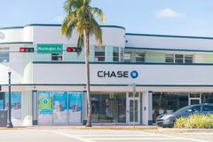 Chase Bank. Chase is the U.S. Consumer and Commercial Banking Business of JPMorgan Chase III. Miami, Florida January 15, 2018: Chase Bank. Chase is the U.S Royalty Free Stock Photo
