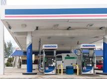Marathon Petroleum Retail Gas Station. Marathon Petroleum Refines and Markets Oil Products I. Miami, Florida January 16, 2018: Marathon Petroleum Retail Gas stock photography