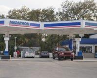 Marathon Petroleum Retail Gas Station. Marathon Petroleum Refines and Markets Oil Products II. Miami, Florida January 19, 2018: Marathon Petroleum Retail Gas royalty free stock images