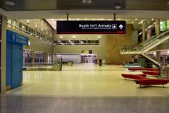 South International arrivals sign at Miami International Airport. stock images