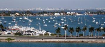 Miami Florida marina Royaltyfria Bilder