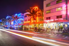 Miami, Florida at Ocean Drive Royalty Free Stock Photo