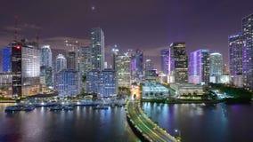Miami, Florida, orizzonte video d archivio