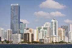 Miami Florida panorama of downtown buildings Royalty Free Stock Photos