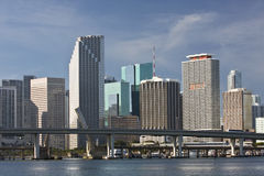 Miami Florida panorama of downtown buildings Stock Photography