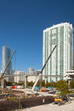 Città della costruzione di Miami Florida Fotografia Stock Libera da Diritti