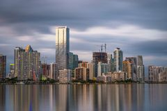 Miami Florida Skyline Stock Photography