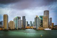 Miami Florida Skyline Royalty Free Stock Images