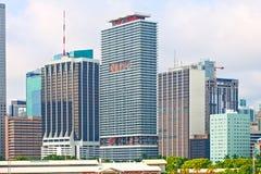 Miami Florida  skyline of downtown Royalty Free Stock Photo
