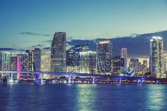 Miami, Florida, special photographic processing. Stock Photo