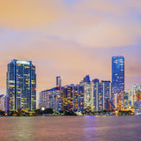 Miami Florida, sunset Stock Photos