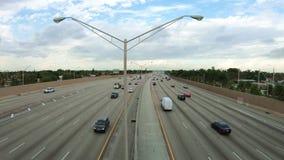 Miami highway traffic stock video